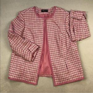 Sag Harbor Tweed Blazer Lined Jacket